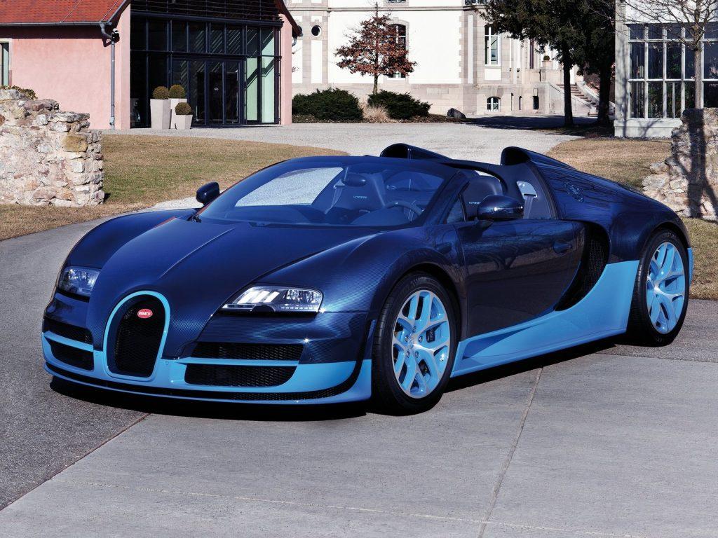An image of a Bugatti Veyron Grand Sport Vitesse parked outside.