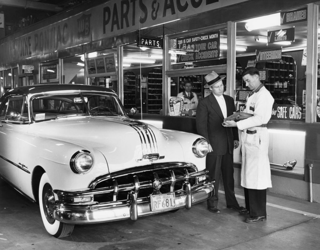 Dealership Service Department from 1950s
