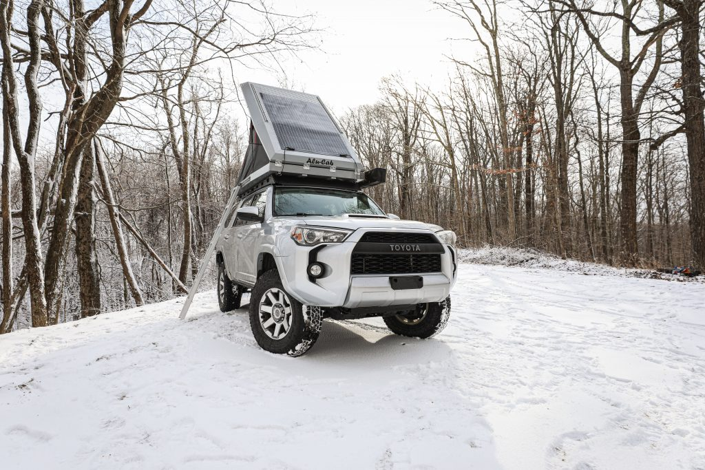 the mountain state overland toyota 4runner in the snow