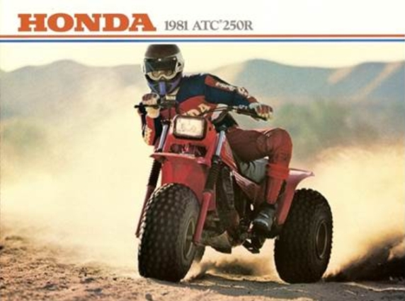 an old advertisement for the Honda ACT form the 1980s