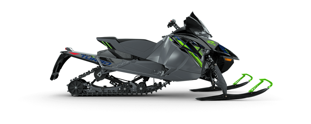 a press photo of the 2022 Arctic Cat thundercat snowmobile