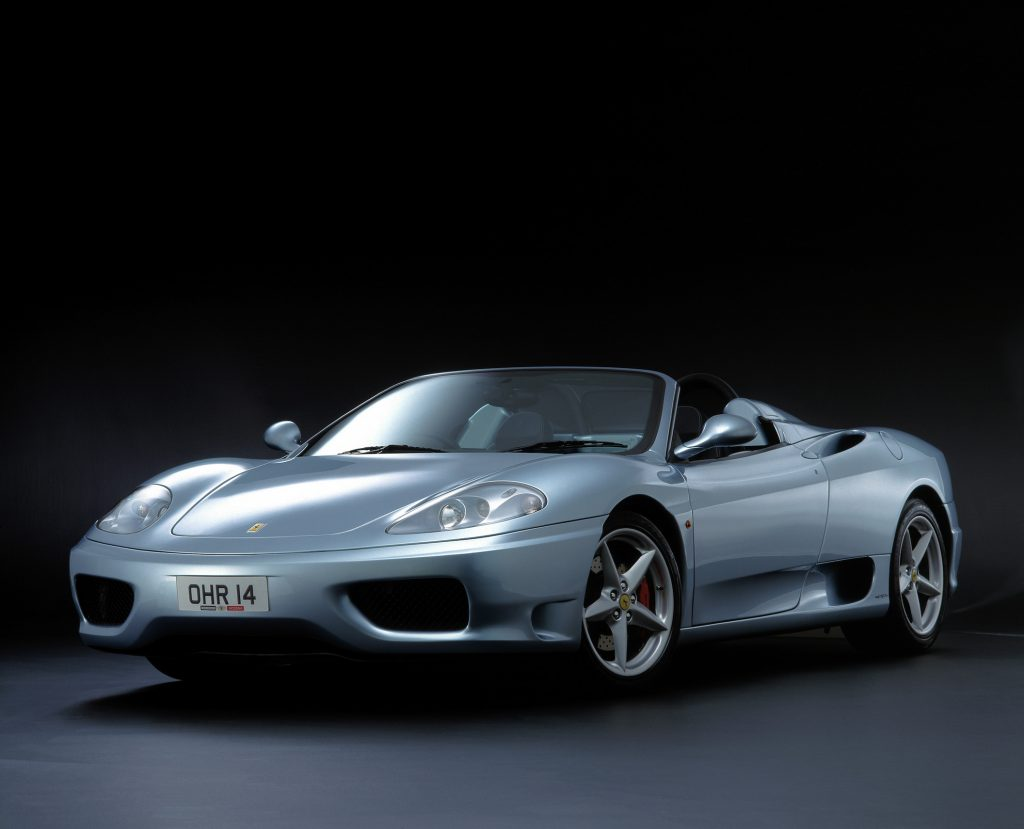 silver 2001 Ferrari Modena