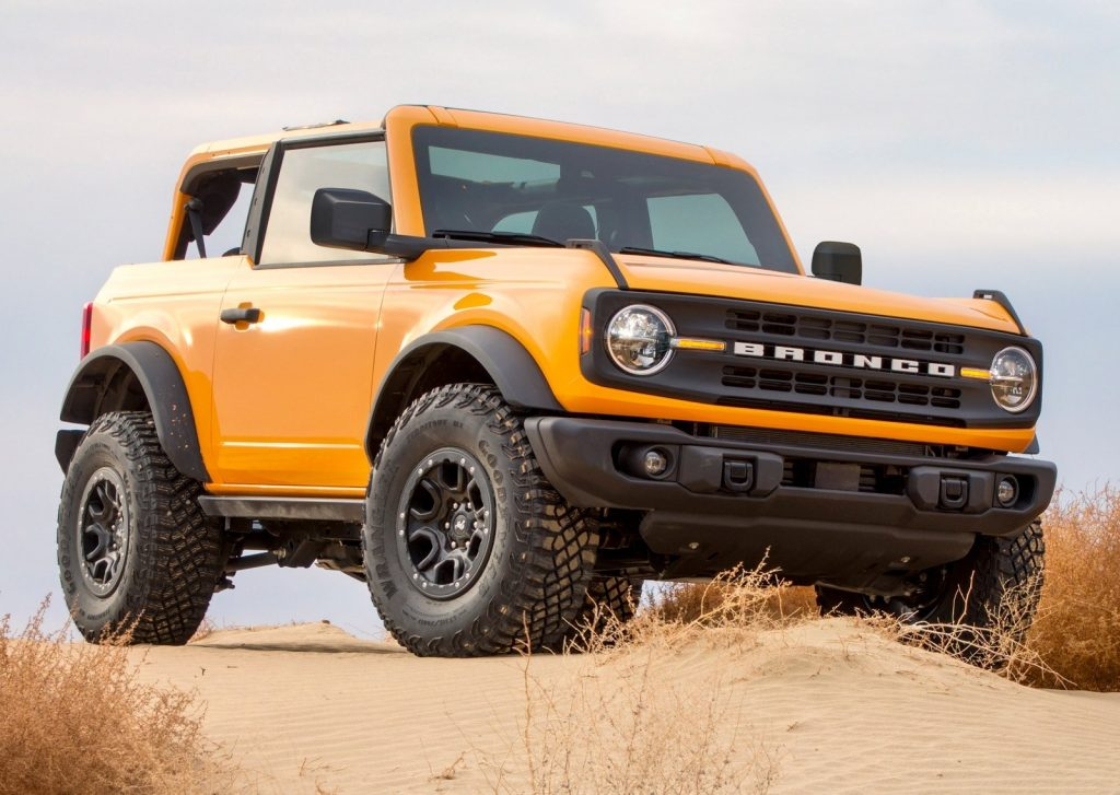 An image of a Ford Bronco parked outdoors.