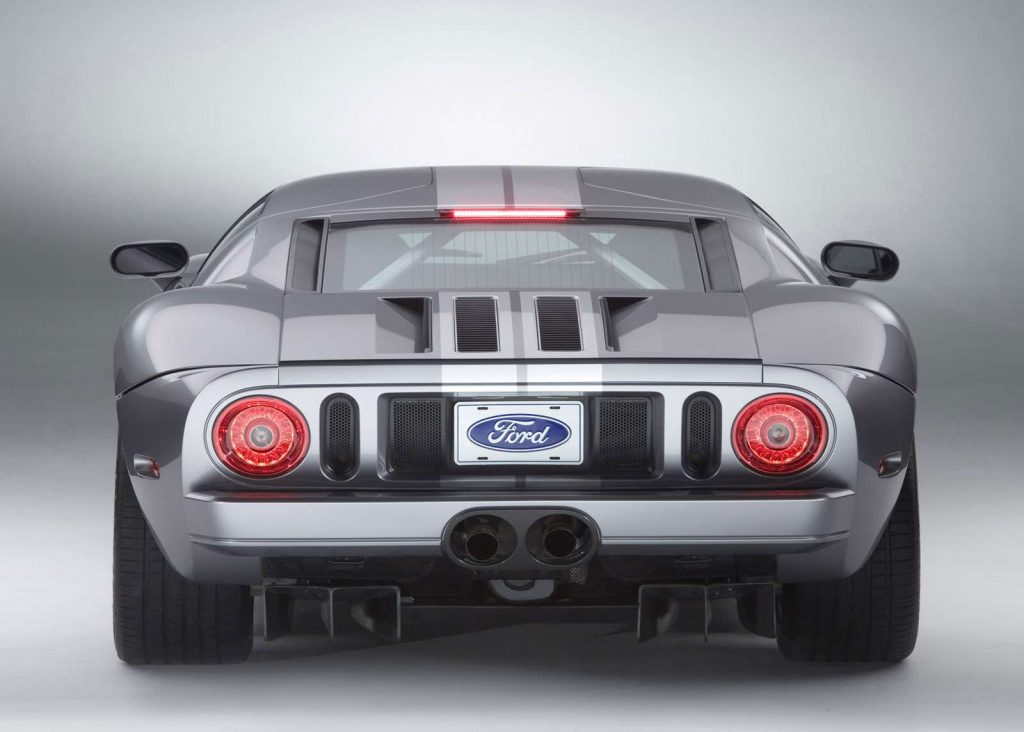 An image of a Ford GT parked inside of a studio.