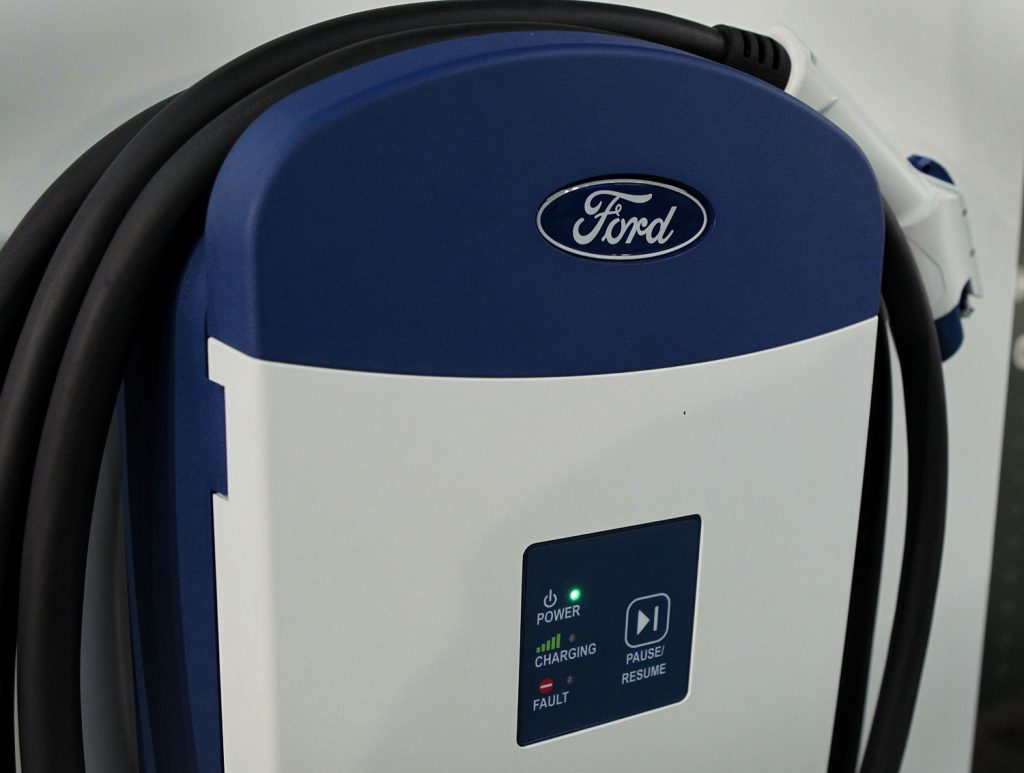 An older version of the Ford Connected Charge Station