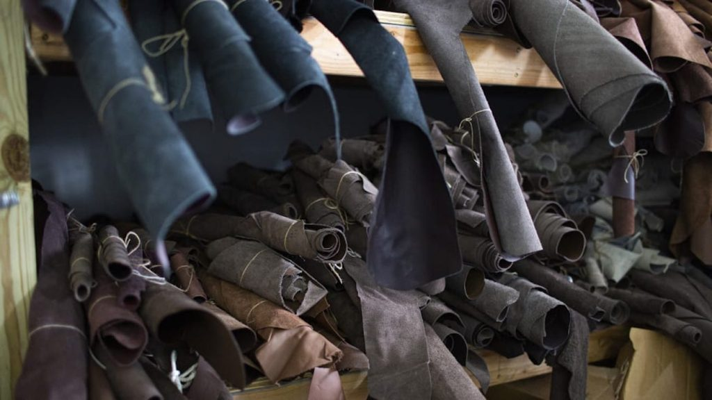 Ford finds $100k worth of leather in the basement of an old factory. This is one shelf of the stuff