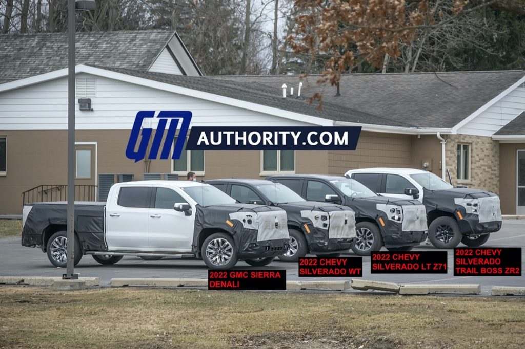 Four GM pickup truck prototypes were spied by GM Authority wearing camouflage