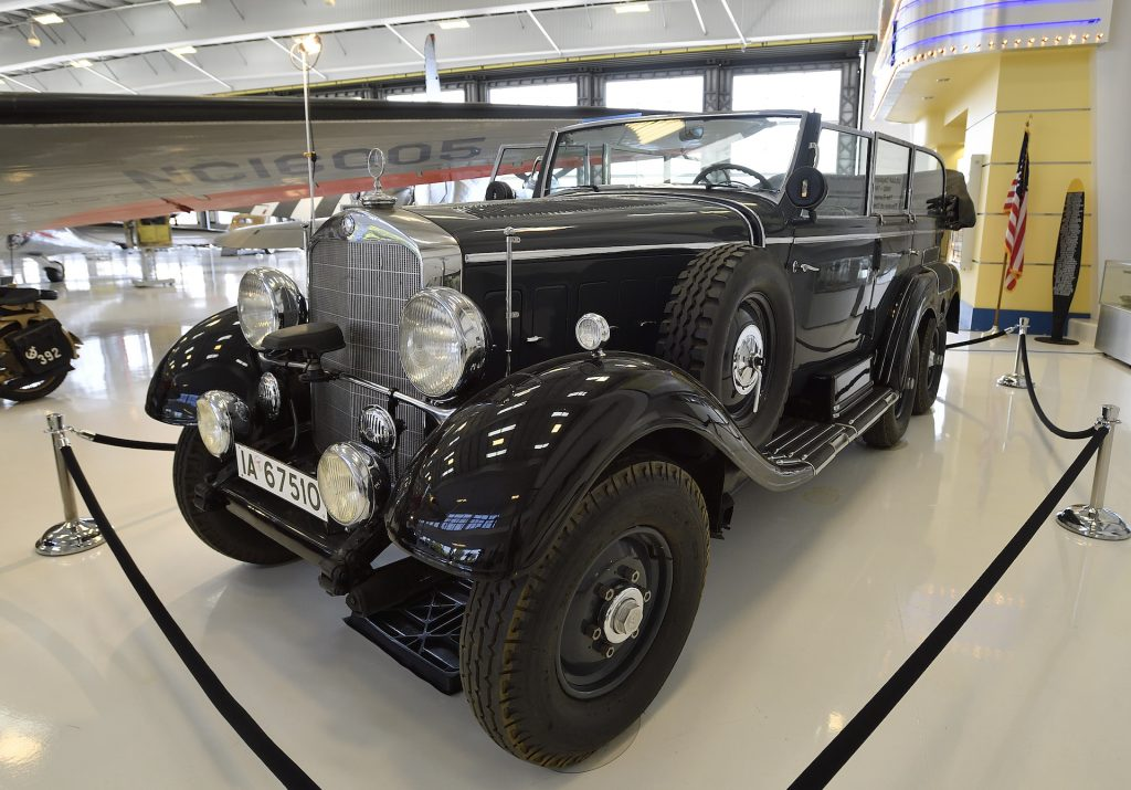 An image of a Mercedes-Benz W31 Type G4 in a museum.