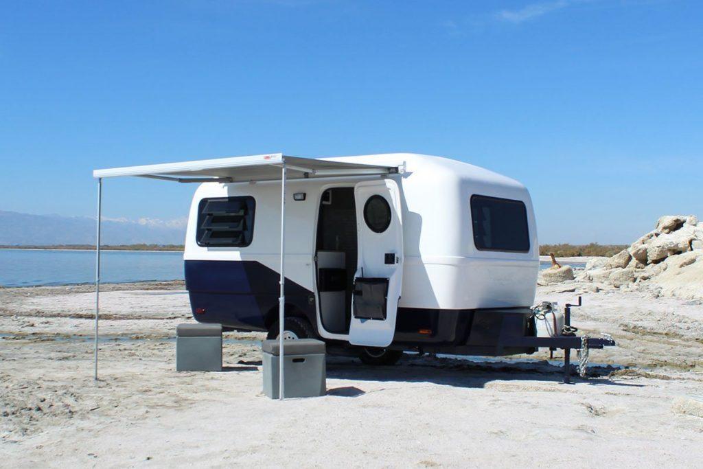 2021 Happier Camper Traveler on a beach