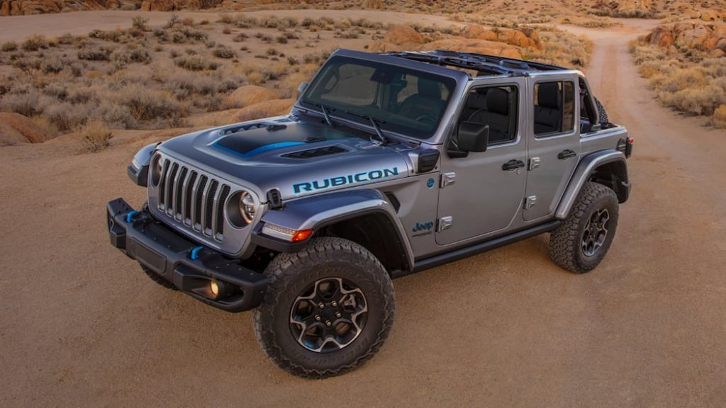 the 2021 Jeep Wrangler 4xe in the desert