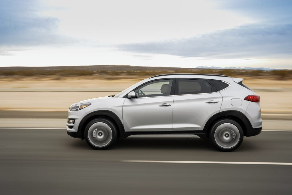 The 2021 Hyundai Tucson driving