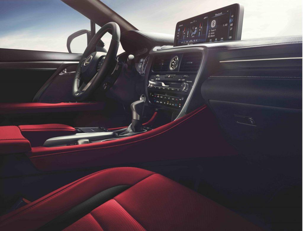 2021 Lexus RX350 red interior
