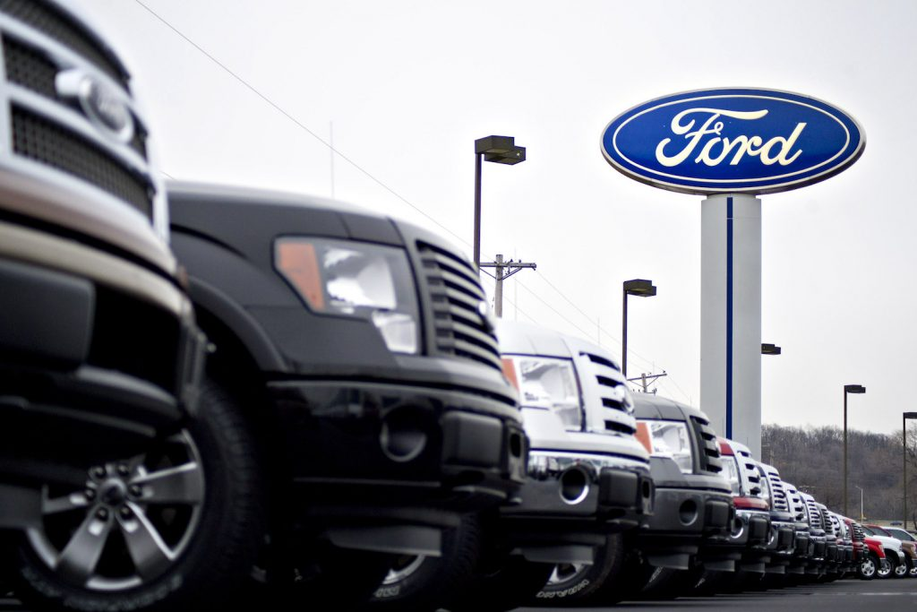 New Ford dealership pictured.
