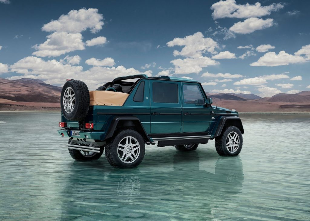 An image of a Mercedes-Maybach G650 Landaulet parked outdoors.