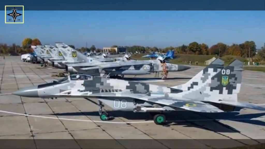 Ukrainian MiG #8 fighter jet that was destroyed in drunk driving accident