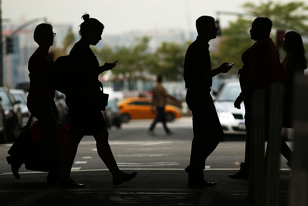 Pedestrians in the shadows