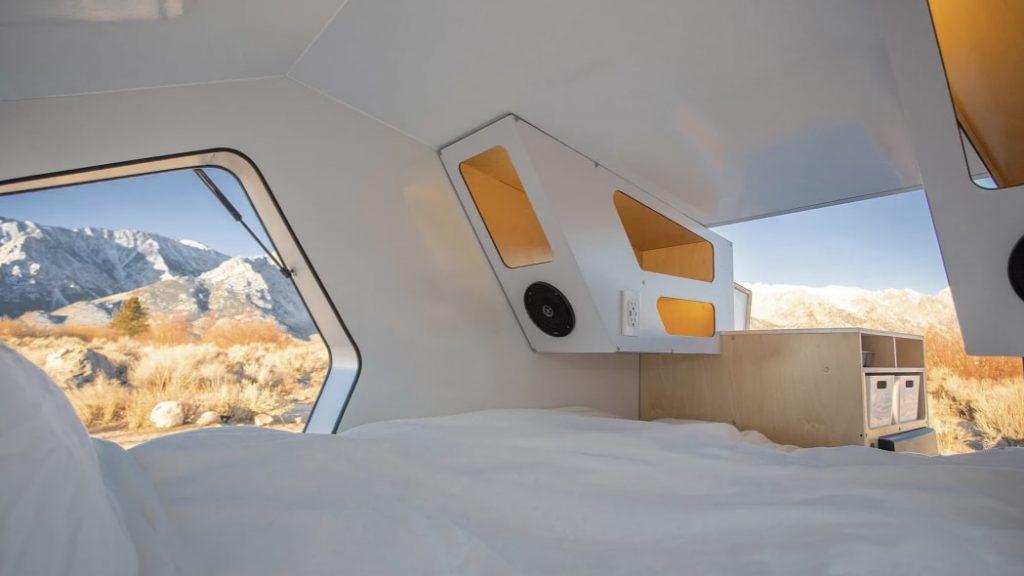 Polydrops teardrop camping trailer interior