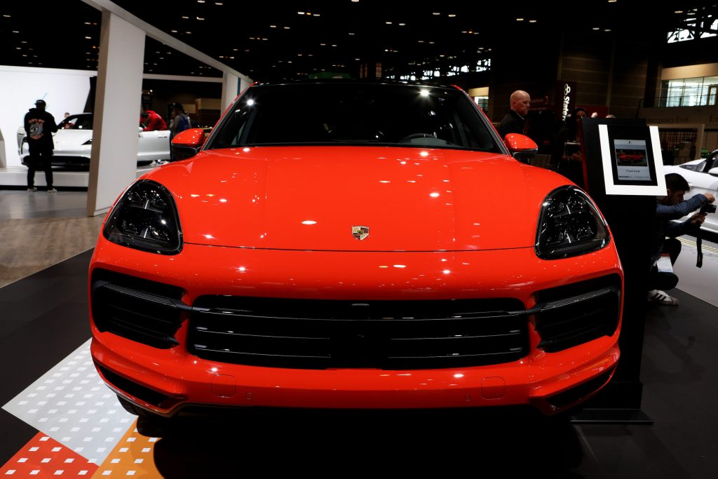 2020 Porsche Cayenne Coupé is on display at the 112th Annual Chicago Auto Show