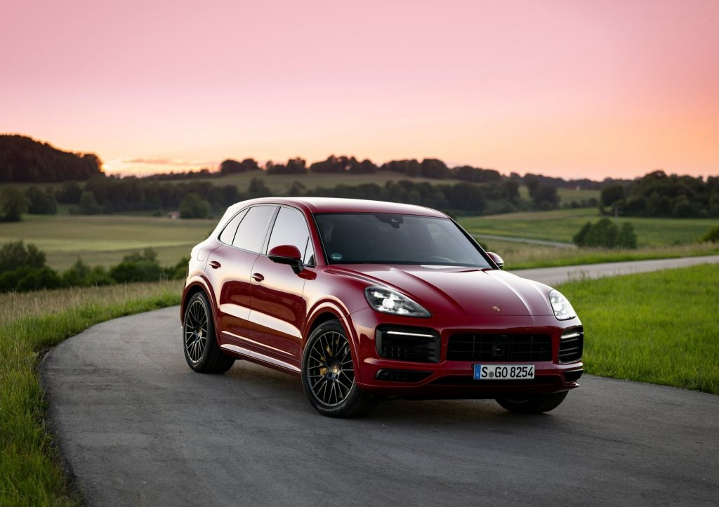 An image of a Porsche Cayenne parked outside.