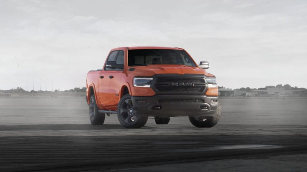 The 2020 Ram 1500 Built to Serve Edition in Spitfire Orange
