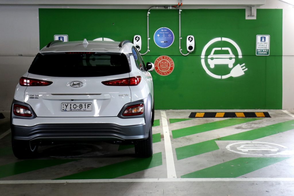 The reliable Hyundai KONA electric car plugged in
