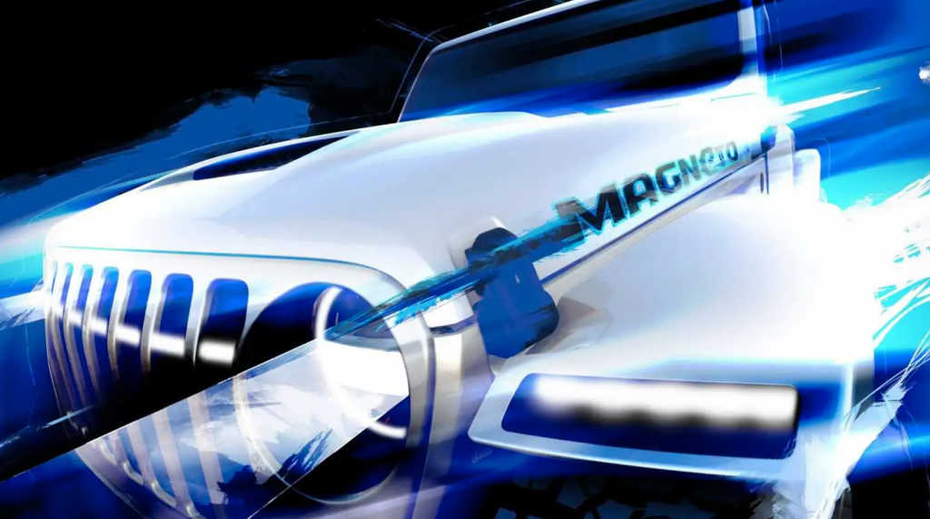Jeep Wrangler Magneto Concept rendering