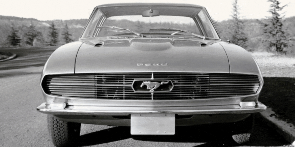 An image of a Bertone Ford Mustang that has been missing for over 50 years.