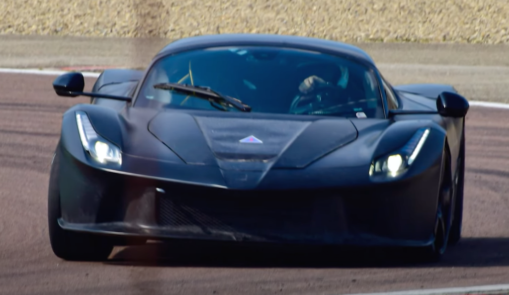 An image of a Ferrari prototype out on track.