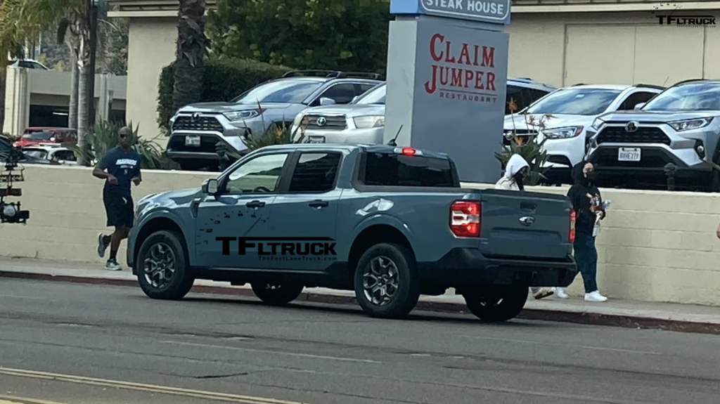 An image of the upcoming 2022 Ford Maverick spotted out on the road.
