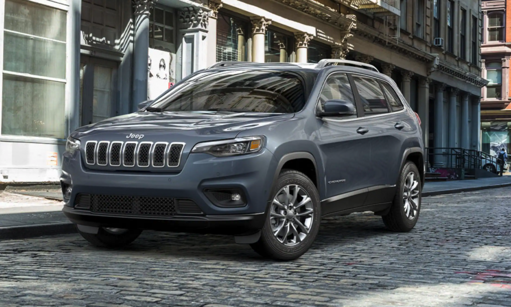 The 2021 Jeep Cherokee parked on the street