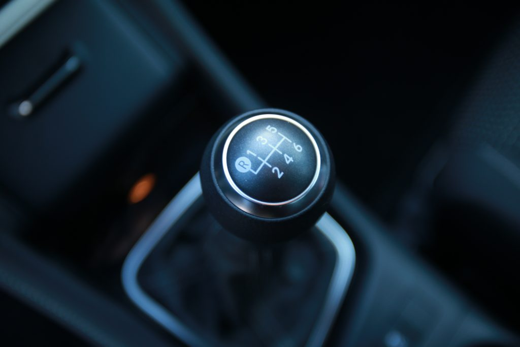 A six-speed shifter for a manual transmission on the 2017 Toyota Corolla iM.