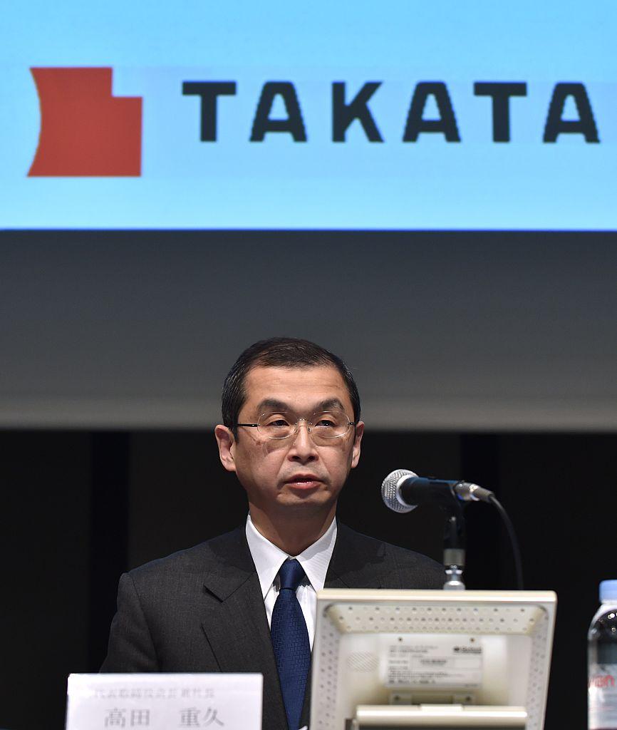 Takata airbag president Shigehisa Takata