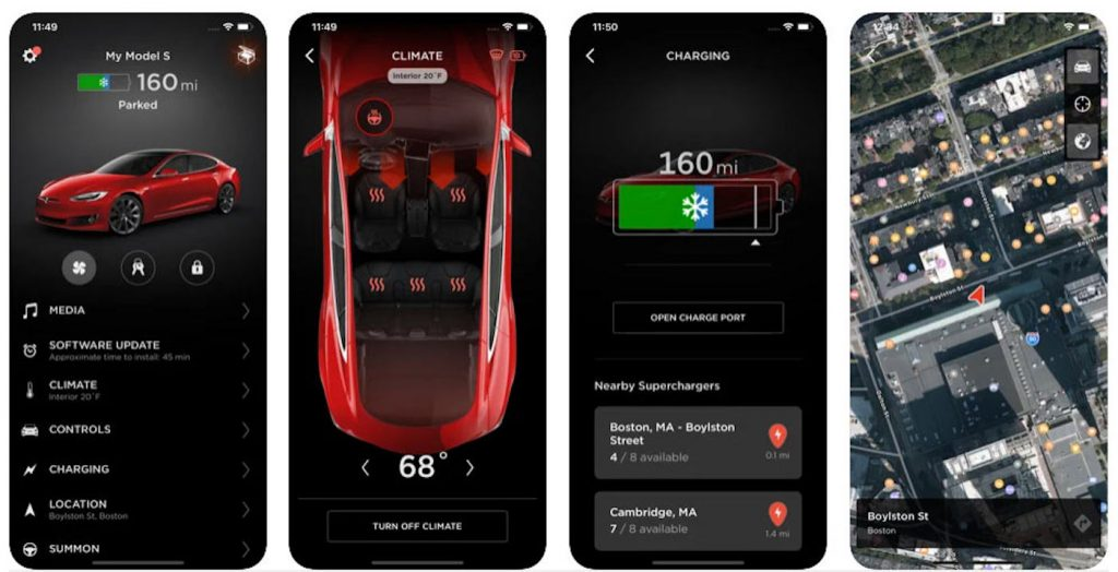 Tesla app interface used to pester thieves who stole a woman's Tesla Model 3