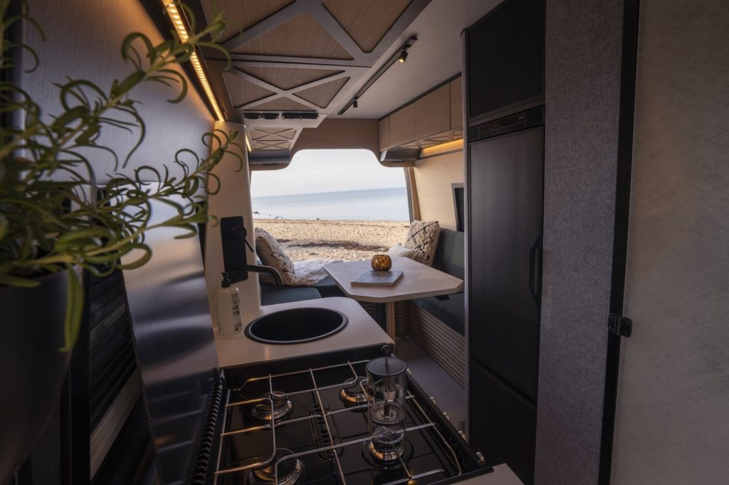The Loef Camper van is one of the nicest campers in the world and its made for chefs