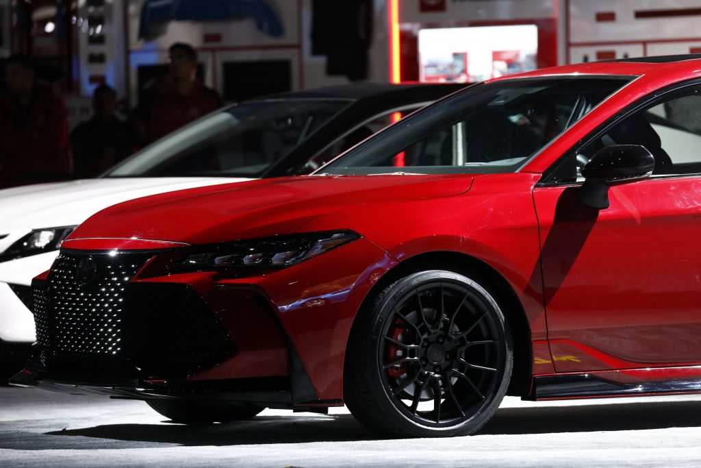 Toyota Motor Corp. Avalon TRD vehicle is displayed during AutoMobility LA ahead of the Los Angeles Auto Show in Los Angeles, California