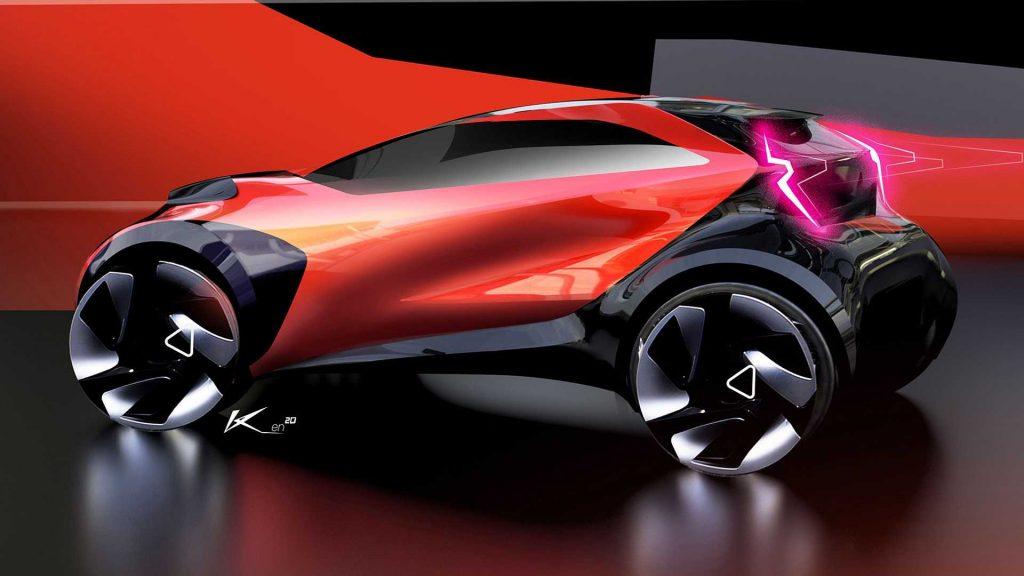 Toyota Aygo X concept rendering