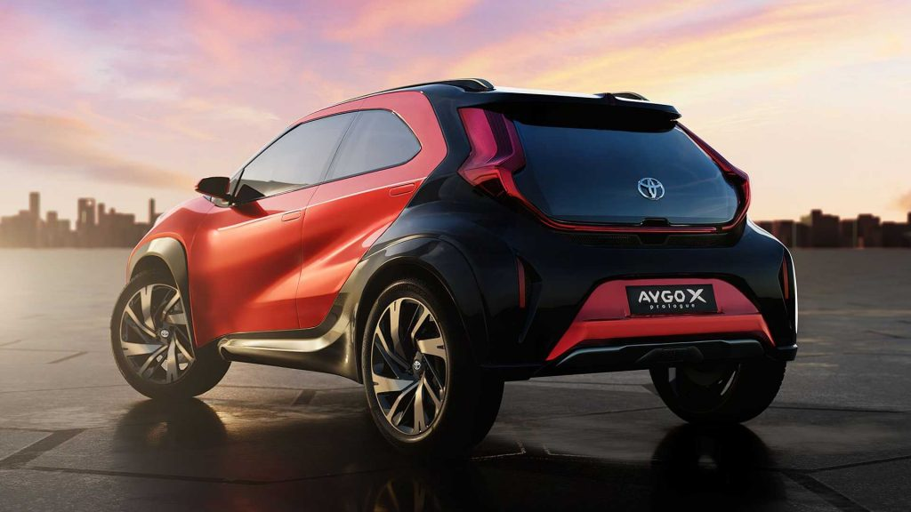 Toyota Aygo X concept rear 3/4 view