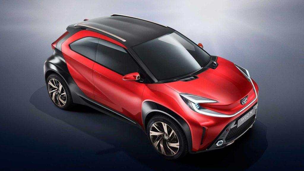 Toyota Aygo X concept overhead shot