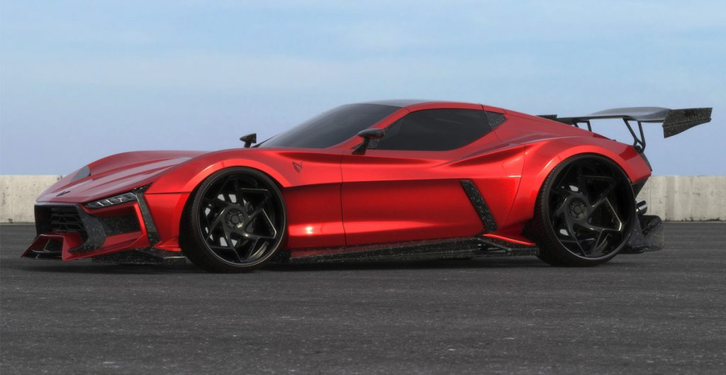 Valarra C6 Corvette in candy apple red
