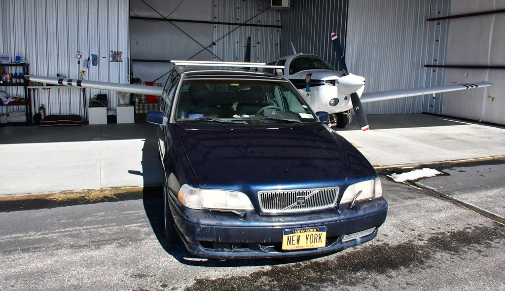Volvo V70 with NEW YORK Plates