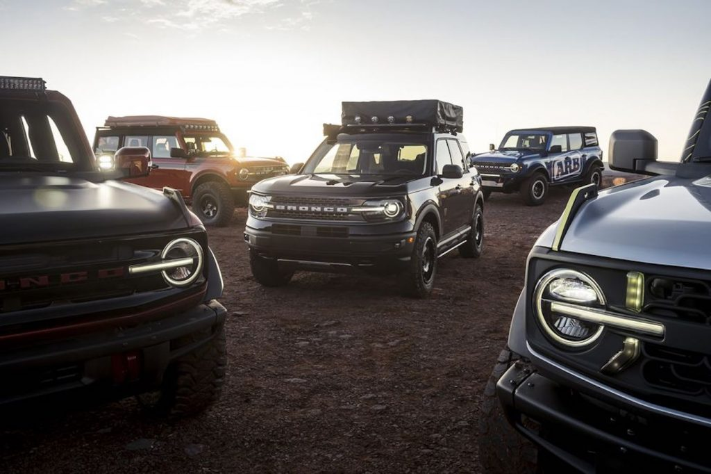 Five Ford Bronco Concepts showed up to the Easter Jeep Safari this week