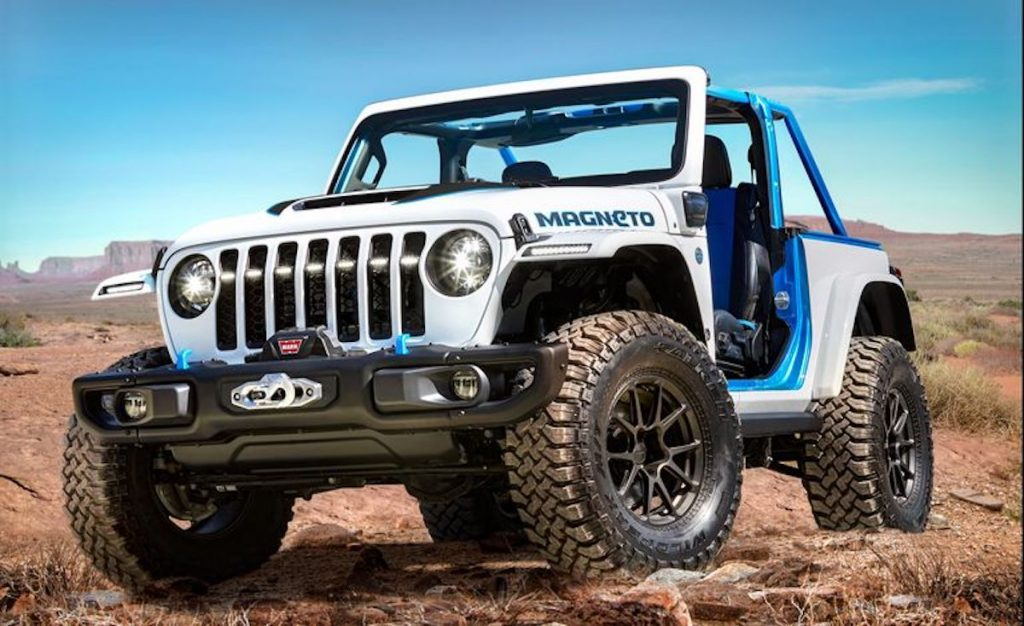 Jeep Wrangler Magneto EV Concept for the 2021 Easter Jeep Safari