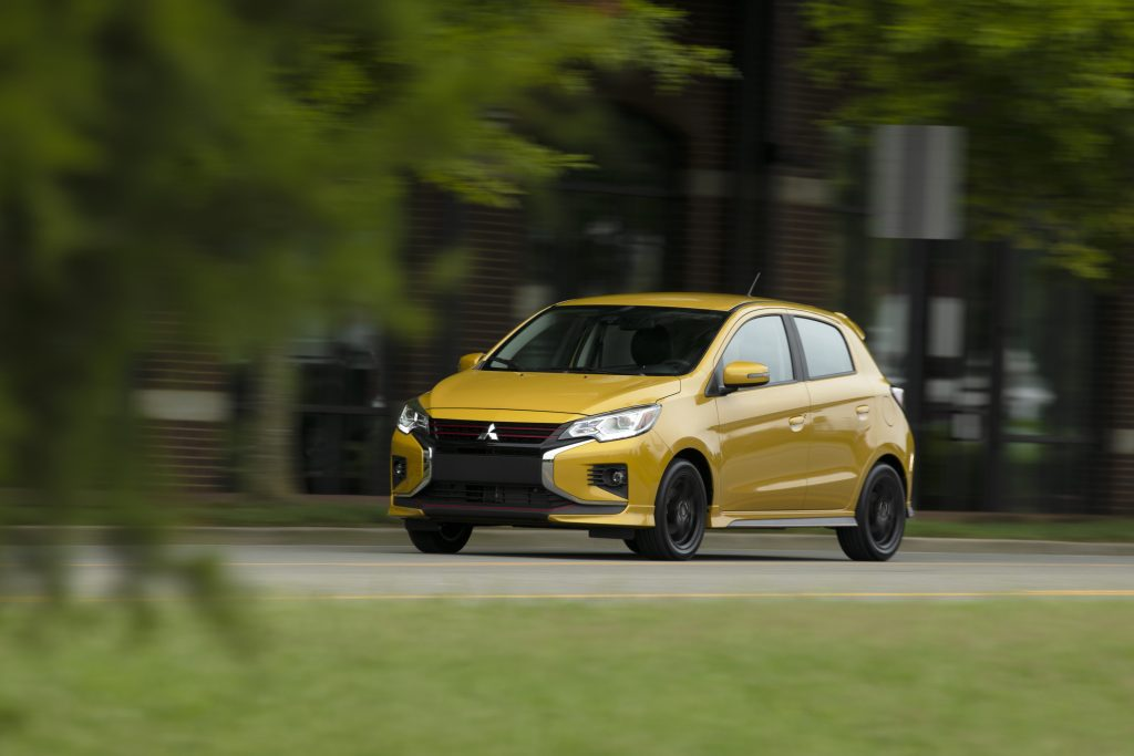 2021 Mitsubishi Mirage in special edition Sand Yellow