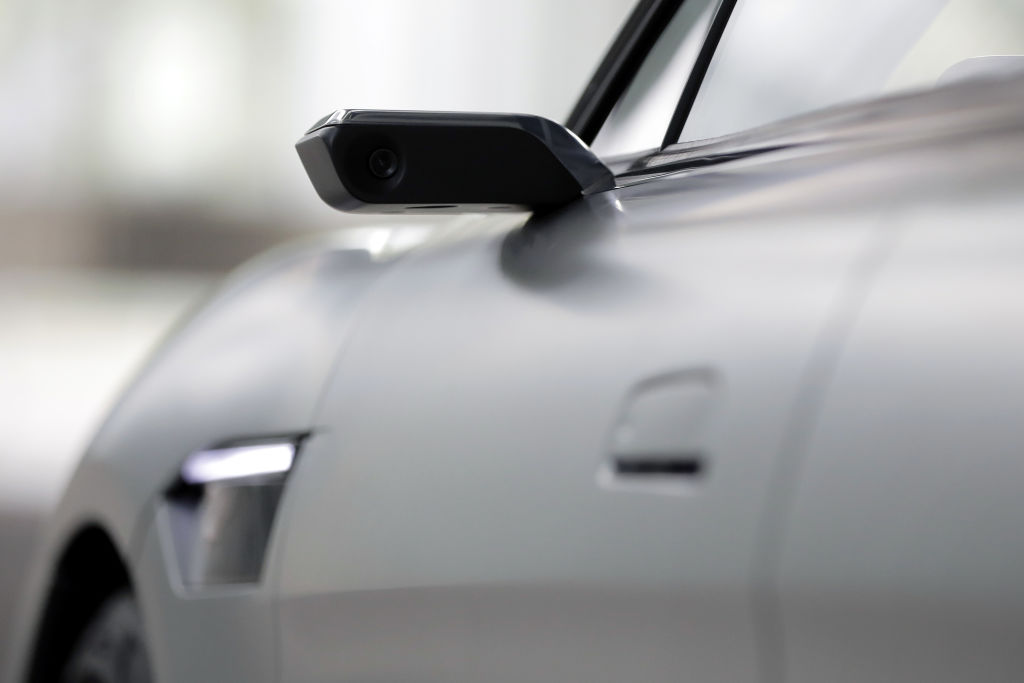 A sideview camera of a concept car