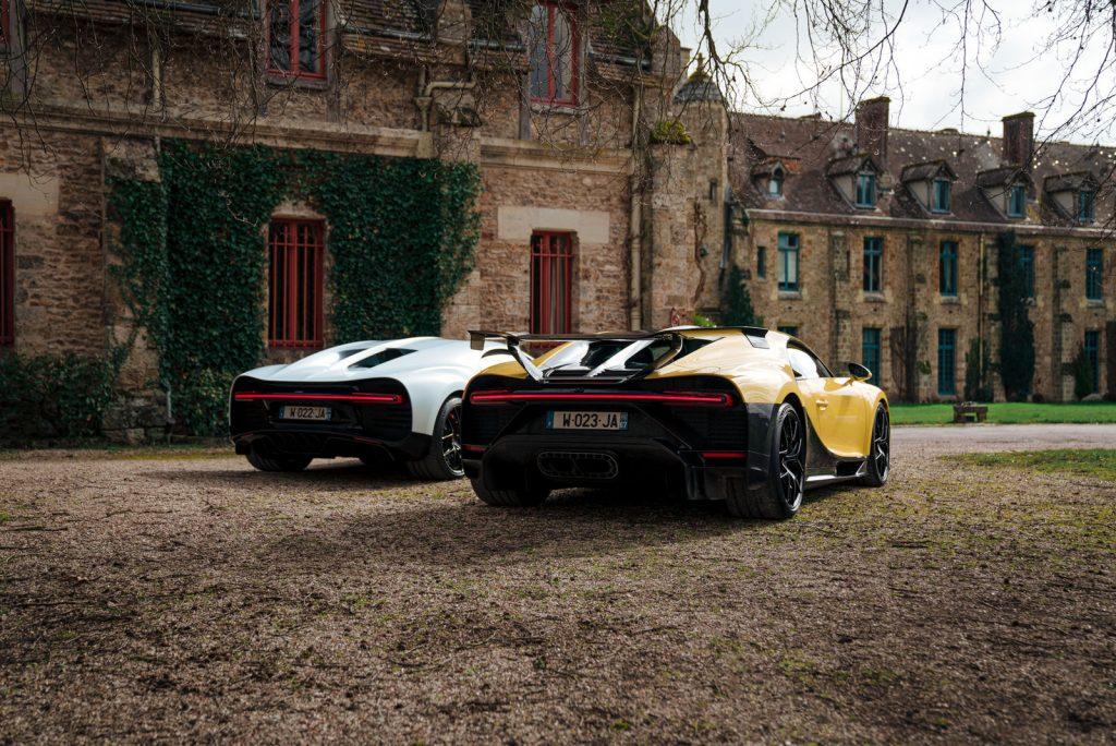 An image of a Bugatti Chiron outdoors.