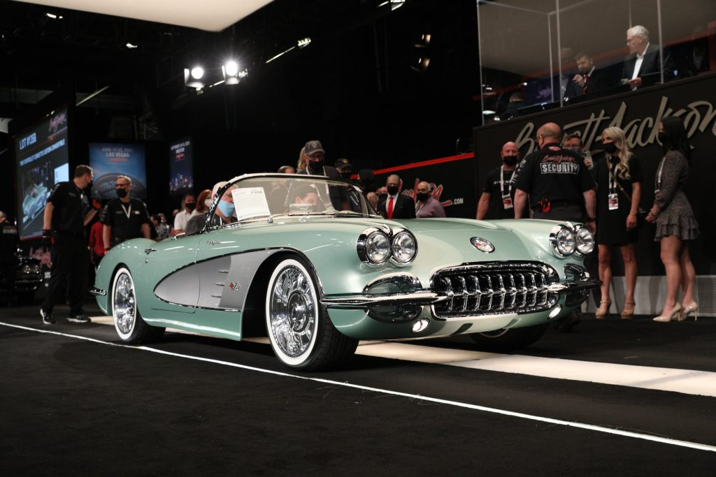 An image of a Chevrolet Corvette that recently sold at auction for $825,000.