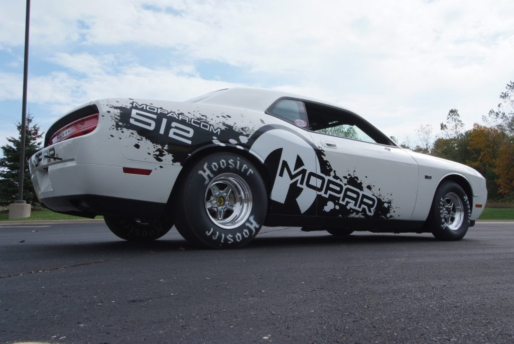 rear 3/4 view2011 Dodge Challenger Drag Pak
