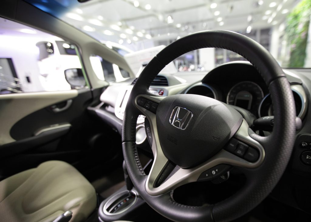 Interior of the 2012 Honda Fit, one of the best used cars