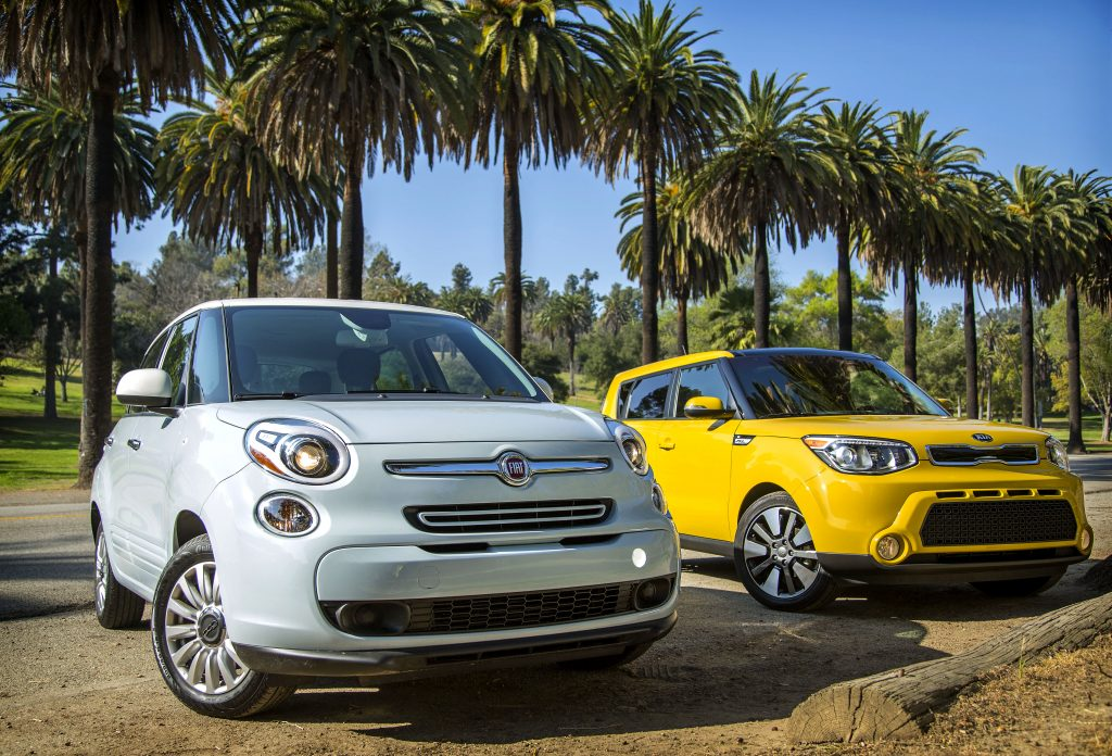 Kelly Blue Book best used hatchbacks 2014 Kia Soul and Fiat 500L