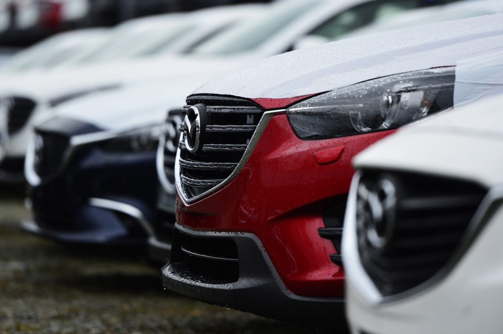Mazda CX-5 and Mazda6 cars assembled at Mazda Sollers Manufacturing Rus factory in Vladivostok